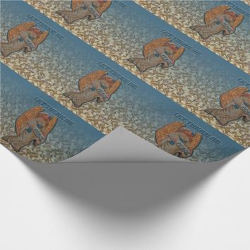 Let There Be Peace Angel Bows Wrapping Paper