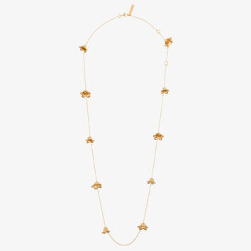 gold-tone flower necklace