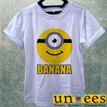 Low Price Women's Adult T-Shirt - Banana Minions Funny Movie design