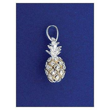 STERLING SILVER 2 TONE HAWAIIAN PINEAPPLE PENDANT