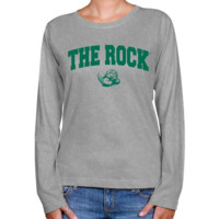 Slippery Rock Pride Ladies Ash Logo Arch Long Sleeve Classic Fit Tee