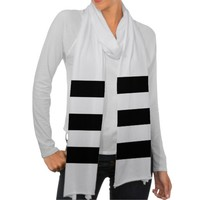 Bold Black and White Stripes - Scarf