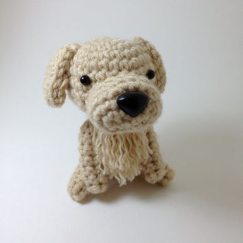 SALE / Golden Retriever Amigurumi Stuffed Animal Handmade Crochet Dog Doll  / Made to Order