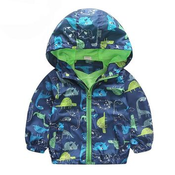 Blue, Navy Blue, Sky Blue Dinosaurs Collection Kid Child Baby Toddler New Born Infant Winter Snow Coat
