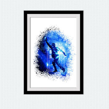 Doctor Who watercolor print Dr Who colorful poster Doctor Who poster Home decoration Kids room decor wall hanging art Christmas gift  W295