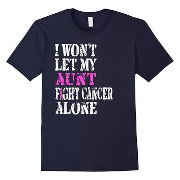 Pink Breast Cancer Ribbon T-Shirt Showing Support For Aunts