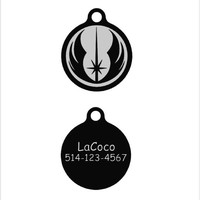 Star War Jedi Order/Quiet dog tag Plastic pet tags Custom pet ID tag Noiseless dog tag Silent dog tag personalized dog ID tags