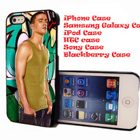 Channing Tatum Street dance Sexy Man for iPhone 4/4S/5/5S/5C Case, Samsung galaxy S3/S4Case