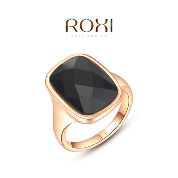 Romantic Christmas Gift Crystal Rings for Women Wedding and Party anel Roxi Rings Women Nail Finger Tail Rings