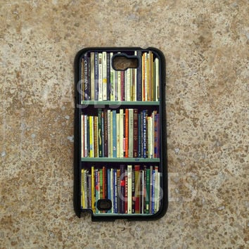 Samsung Galaxy Note 2 Case, Bookshlef Geeky Galaxy Note Cases, Cool Unique Note 2 Cover