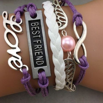 Best Friends Forever Multi Charm Bracelet