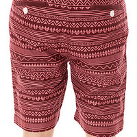 Bellfield Shorts Tuppelo in Wine Red