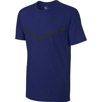 Nike Men's Futura Mesh Panel Print T Shirt, Blue 779844-455 Size S