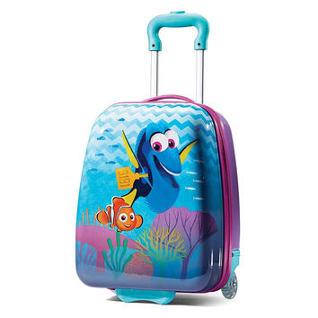 "Kids Finding Dory 18"" ABS Hard Shell Rolling Wheeled Luggage Suitcase"