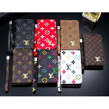 LV & GUCCI & Burberry Tide brand wristband all-inclusive holster iphone7 mobile phone case