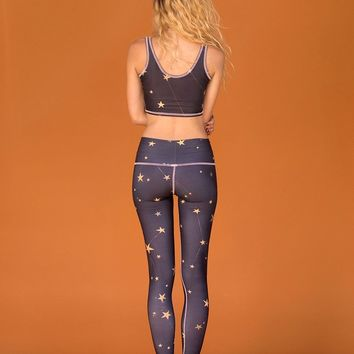 great star nation black hot pants (pink thread)