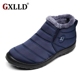2017 New Women Winter Shoes Solid Color Snow Boots Cotton Inside Antiskid Bottom Keep Warm Waterproof Ski Boots,size 46