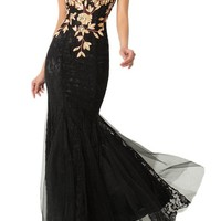 MILANO BRIDE Cheap Mermaid Evening Prom Dress For Women V-neck Lace Rhinestone