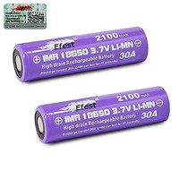 Efest IMR 30A 18650 Flat Top Battery 2100 mAh (2Pack) - Batteries