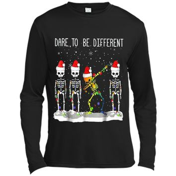 dare to be different christmas dabbing Long Sleeve Moisture Absorbing Shirt