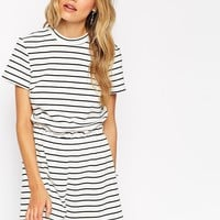 ASOS Reclaimed Vintage Playsuit In Stripe