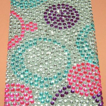 Thin profile hard shell Bling case iPhone 5/5s/SE, stylish multi color beaded