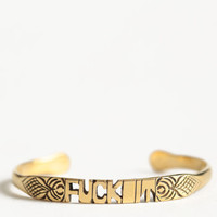 Fuck It Word Cuff By Jen's Pirate Booty - $48.00 : ThreadSence.com, Your Spot For Indie Clothing & Indie Urban Culture