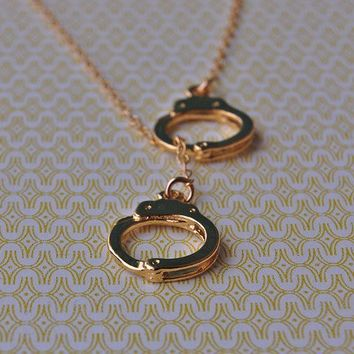 The Gold Handcuffs Lariat Necklace  Gold Vermeil by verabel