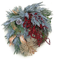 Christmas Wreath for Door, Christmas Door Wreath, Winter Wreath,Christmas Decor,Holiday,Outdoor Christmas,Front Door Decor,Burlap,Grapevine