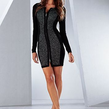 %PC% Zip front sweater dress, heel from VENUS