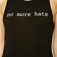 No More Hate Graphic Tank Top
