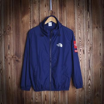 """Casual Unisex Sports """"The North Face"""" Windbreaker Simple Design Jacket Coat Great Gifts"""