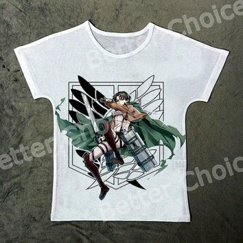Cool Attack on Titan Track Ship+New Vintage Retro Fresh T-shirt Top Tee no   Fighter with Sword  1042 AT_90_11