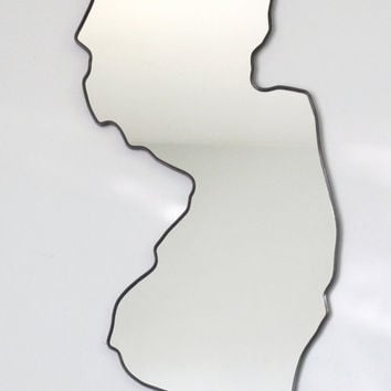 New Jersey Mirror / Wall Mirror State Outline Silhouette Shape Art Decor NJ