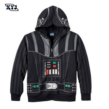 2016 Autumn Hoodie Star Wars Costume Darth Vader Jacket Kids Boys Clothing Captain America Anime Hoodie Iron Man Iron Clothes