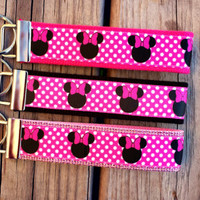 Disney Inspired Minnie Mouse Keychain/ Key Fob