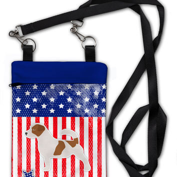 USA Patriotic Jack Russell Terrier Crossbody Bag Purse BB3307OBDY