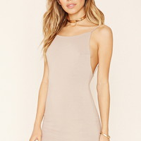 Open-Back Mini Dress