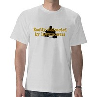 Easily Distracted Lawnmower Racing Shirts from Zazzle.com