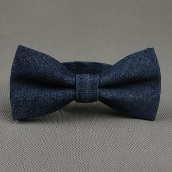 Fashion Men's Bow Ties Formal Wear Business Suit Bowknots Bow Ties For Wedding Cotton Printing Bow Tie Cravat
