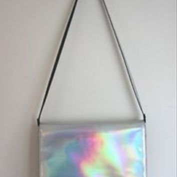 Zara Holographic Bag Hologram Clutch Bag BNWT