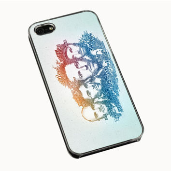 Coldplay Faces Lyrics Design iPhone 4(S) 5(S) 5C Cases
