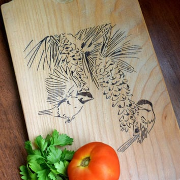 Personalized Cutting Board Birds Wedding gift Chopping block Custom Cutting Board Engraved kitchen bread board serving board cheese butcher
