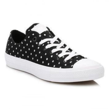 ONETOW converse all star chuck taylor ii black white shield trainers