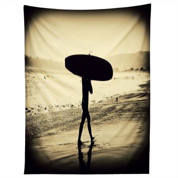 Shannon Clark Surfers Silhouette Tapestry