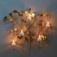 Ginkgo Branch Candle Sconce