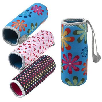 VONC1Y lovely pet Fashion New Warm Heat Insulation 500ML Water Bottle Bags Thermos Cup Bag oct1010