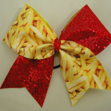 French Fries and Ketchup Cheer Bow