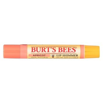 Burts Bees Lip Shimmer - Apricot - Case Of 4 - 0.09 Oz
