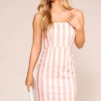 Clear Skies Mauve Striped Dress